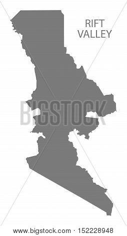 Rift Valley Kenya Map grey illustration high res