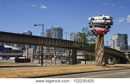 Vancouver, Canada - August 27, 2016: Trans Am Totem On 27 August