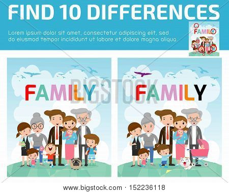 find differences,Game for kids ,find differences,Brain games, children game, Educational Game for Preschool Children, Game for child,find 10 differences,family, kids game, children game, game, kids