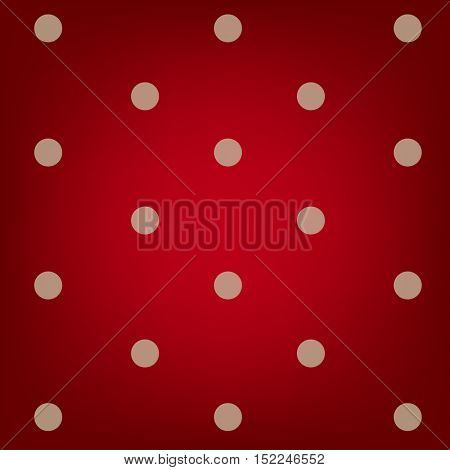 Polka dots red background
