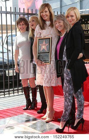 LOS ANGELES - OCT 17:  Actress, Anna Faris, Allison Janney, Mimi Kennedy, Jaime Presley at the Janney Hollywood WOF Star Ceremony at the Gower and Hollywood on October 17, 2016 in Los Angeles, CA