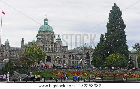 Victoria, Canada - August 28, 2016: Legislative Assembly On 28 A