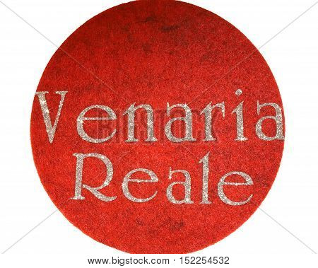 Venaria Reale Written Of An Italian City With Glitter Font