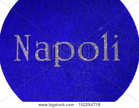 Napoli Written Of An Italian City With Glitter Font