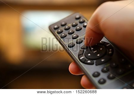 TV remote control switch channels