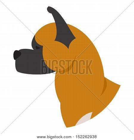 Dog head akita. Playful mammal isolated on white background. Vector illustration