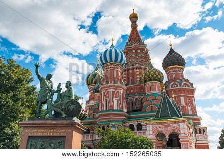 Cathedral of Vasily the Blessed on Red Square in Moscow Russia