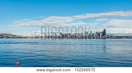 A view of the Seattle skyline from West Seattle.