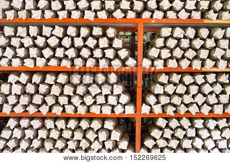 Soil prepared for organic mushroom cultivation farm