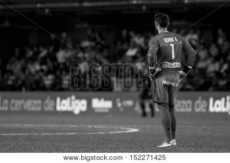 VILLARREAL, SPAIN - OCTOBER 16th: Sergio during La Liga soccer match between Villarreal CF and R.C. Celta de Vigo at El Madrigal Stadium on October 16, 2016 in Villarreal, Spain
