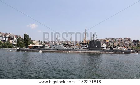 Ship And Submarine In Koc Museum