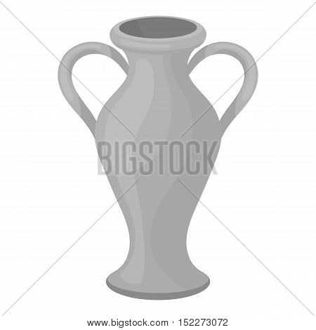 Amphora icon in monochrome style isolated on white background. Theater symbol vector illustration