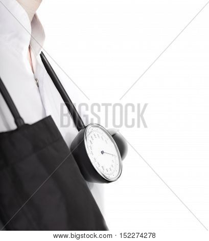 Dostor is ready to work. Daily rutine of doctor