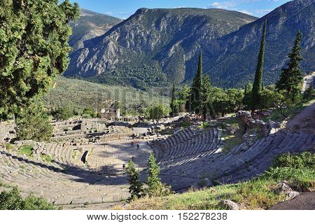 The Theatre In Delphi, Greece