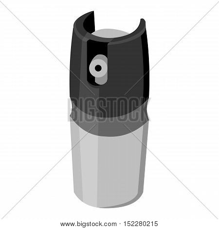 Gas canister icon monochrome. Single weapon icon from the big ammunitio, arms monochrome.