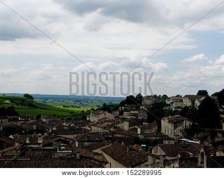 top view of sant Emilion in France