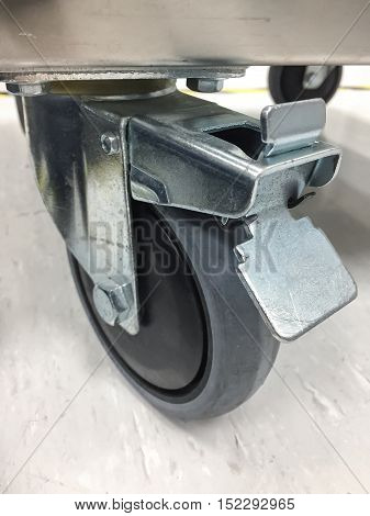 Trolley wheels made of antistatic resin with lock wheels.