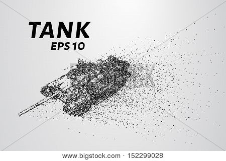 The tank of particles. The tank crumbles into small molecules.