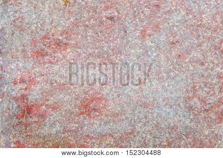 Background texture of old steel plate floor with rusty on pink color.