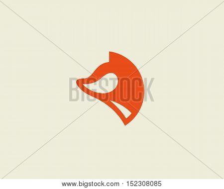 Fox vector logotype. Foxy logo design template.