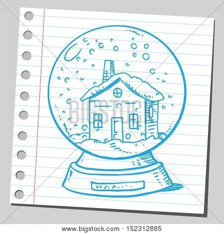 House  in snow globe