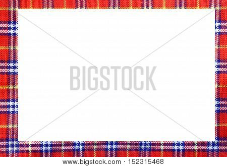 Tartan Frame With Space To Write Your Text