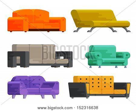 Illustration Of Sofa Set