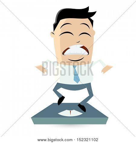 clipart of an overweight man