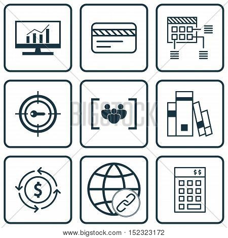 Set Of 9 Universal Editable Icons For Seo, Marketing And Travel Topics. Includes Icons Such As Quest