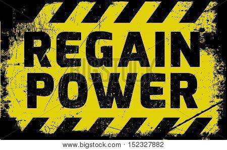 Regain Power Sign