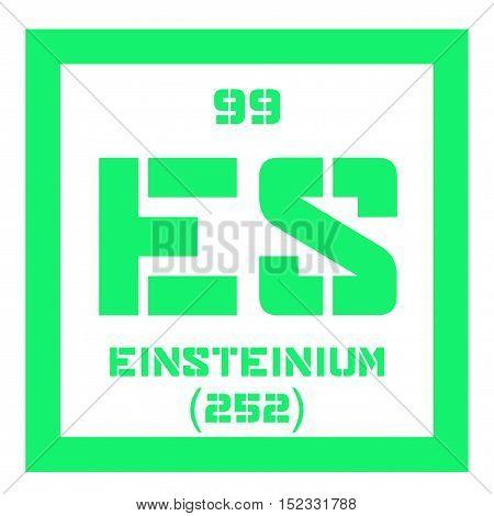 Einsteinium Chemical Element