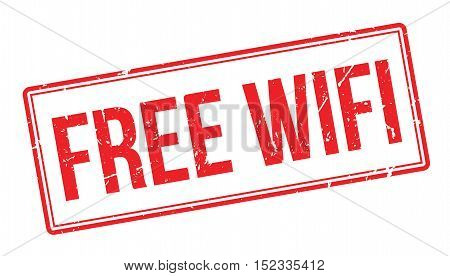 Free Wifi Rubber Stamp