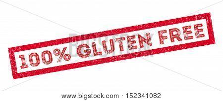 100 Percent Gluten Free Rubber Stamp