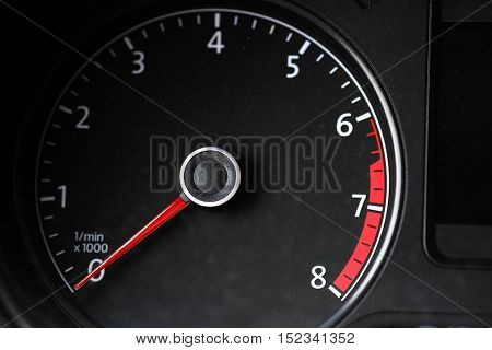 The image of a tachometer