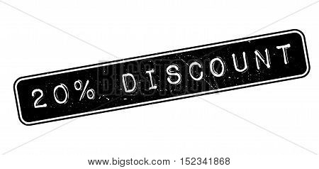 20 Percent Discount Rubber Stamp