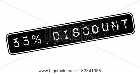 55 Percent Discount Rubber Stamp