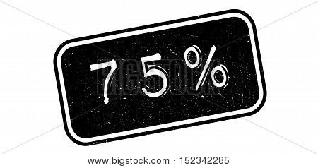 75 Percent Rubber Stamp