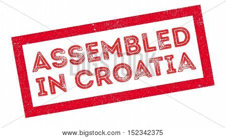 Assembled In Croatia Rubber Stamp
