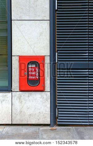 Dry Riser Inlet Red Box for Firefighters