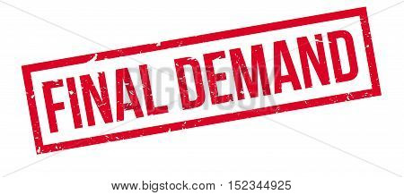 Final Demand Rubber Stamp