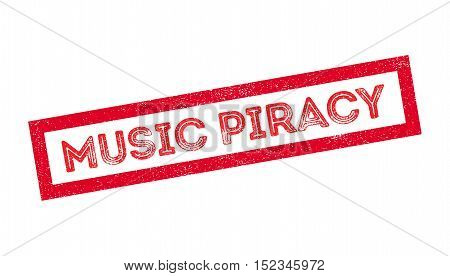 Music Piracy Rubber Stamp