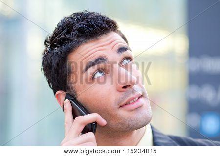 Businessman Talking At Mobile