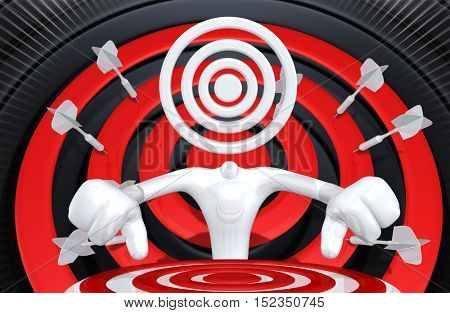The Original 3D Character Illustration Target Head