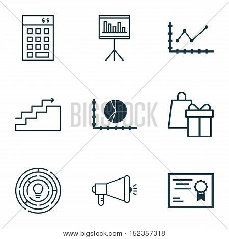 Set Of 9 Universal Editable Icons For Education, Project Management And Airport Topics. Includes Ico