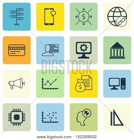 Set Of 16 Universal Editable Icons For Education, Travel And Human Resources Topics. Includes Icons