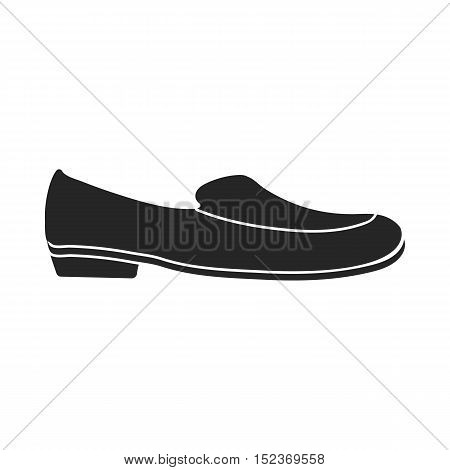 Loafers icon in  black style isolated on white background. Shoes symbol vector illustration.