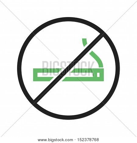Smoking, addiction, tobacco icon vector image. Can also be used for warning caution. Suitable for web apps, mobile apps and print media.