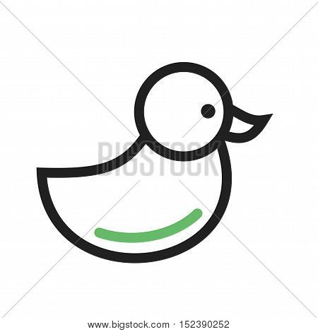 Duckling, duck, bird icon vector image. Can also be used for spring. Suitable for mobile apps, web apps and print media.