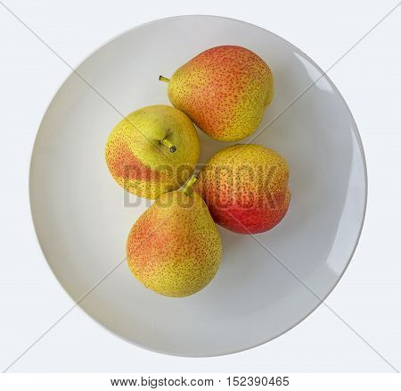 Organic Blush Pears - Streaks of Red Ripening yield very sweet and delicious fruit (Also known as: