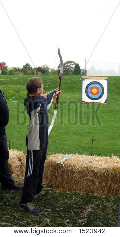 Child/ Boy Playing Archery.